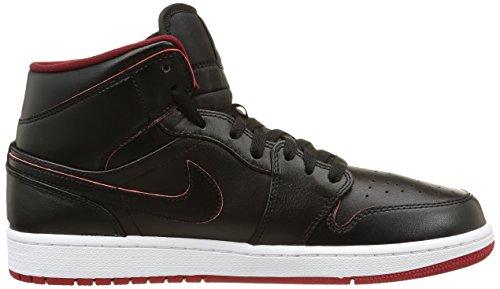 Hombre Negro Blanco Mid Red Zapatillas NIKE Rojo gym 1 Air Jordan white para de Black Black Deporte 8x8vwqatz