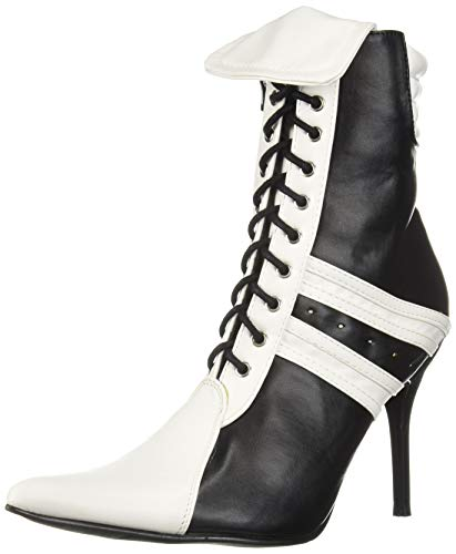 Ellie Shoes Women's 457-Ref Fashion Boot Black/White 6 M US