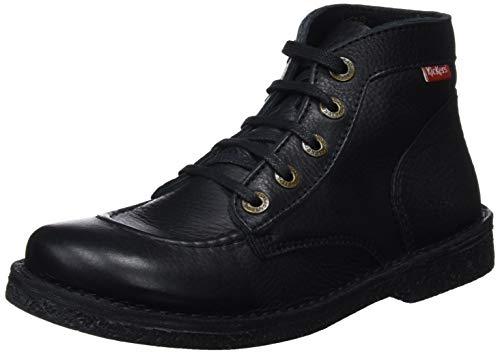 Kickers 82 Legendiknew sem Noir Derby Negro Zapatos Mujer Perm Cordones Para De rrZWTPpqn