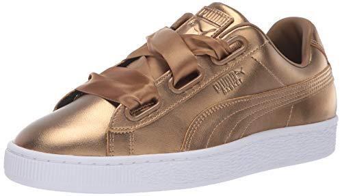 - PUMA Women's Basket Heart Patent Sneaker Ermine, 7 M US
