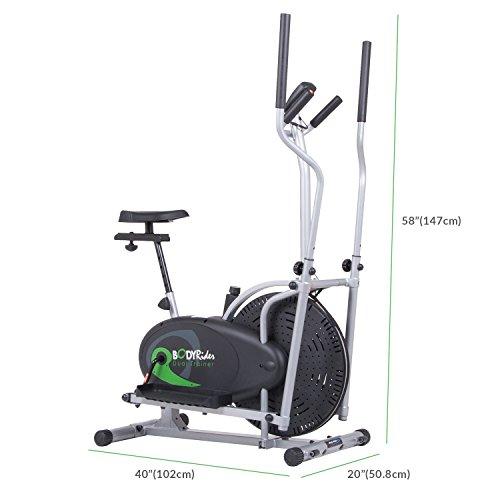 Cuerpo Rider brd2000 elíptica y bicicleta estática con asiento y fácil ordenador/Dual Trainer 2 in 1 Cardio oficina en casa Fitness máquina de ejercicio: ...