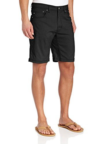 (prAna Men's Brion Shorts, Black, 40W 9L)