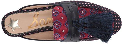 Sam Mule Multi Red Fabric Edelman Women's Tie Parsimon Multi Blue T6qwTrO