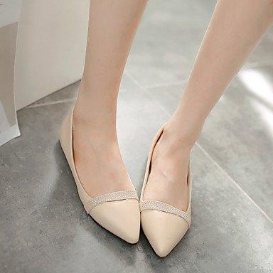 Cómodo y elegante soporte de zapatos de las mujeres pisos primavera verano otros piel sintética Casual talón plano negro rosa, morado, beige negro