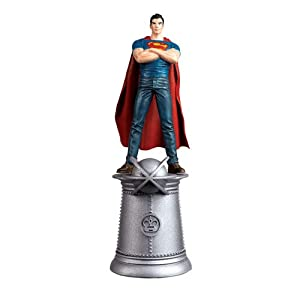 DC Superhero Young Superman White King Chess Piece with Collector Magazine