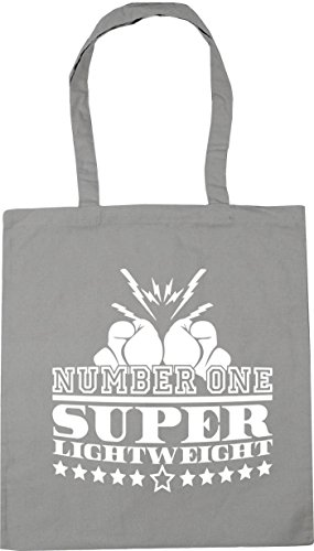HippoWarehouse Number One Super Lightweight Tote Shopping Gym Beach Bag 42cm x38cm, 10 litres Light Grey