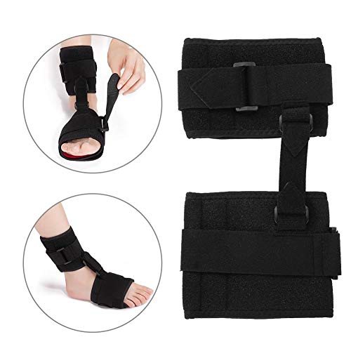 Foot Drop Brace,Adjustable Foot Drop Orthosis Ankle Corrector Brace Support Protection Correction Splint Right or Left Drop Foot Brace Plantar Fasciitis Splint Day/Night Dorsal Splint