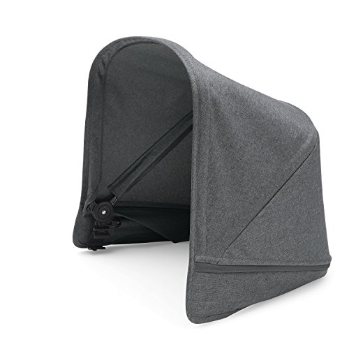 Bugaboo Donkey2 Sun Canopy, Grey Mélange - Extendable Sun Shade for Full Weather Protection, Machine Washable