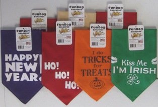 Holiday Pack of Bandanas, One Size Fits Most for Medium to Large Dogs, My Pet Supplies