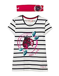 Big Girls Cotton T-Shirt and Headband