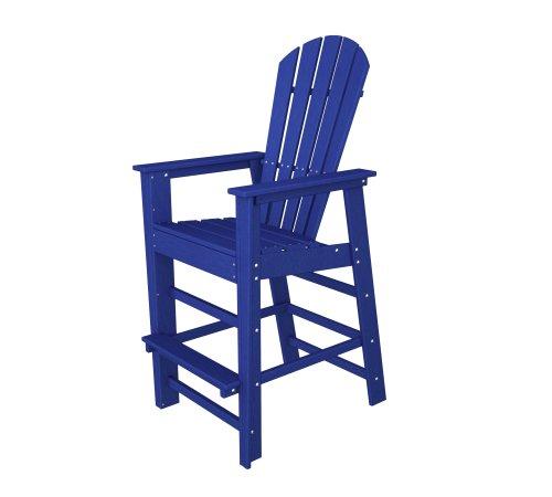 Beach South Bar Outdoor (POLYWOOD SBD30PB South Beach Bar Chair, Pacific Blue)