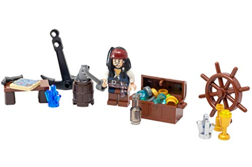 LEGO Jack Sparrow with Sword, Treasure, Map, and More! - Custom Pirate Minifigure]()