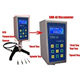 HFBTE SNB-AI Multi-Speed Rotational Viscometer Viscosity Meters Tester with RTD Temperature Sensor 50~10,000,000mPa.s Measurement Range