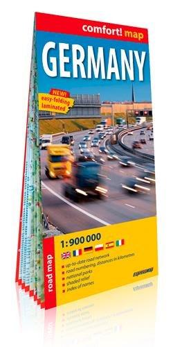 Alemania 1:900.000 mapa plastificado. ExpressMap. (comfort! map) por VV.AA.
