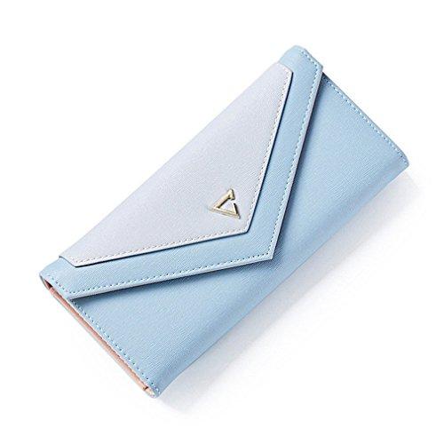 monnaie Portefeuille Envelope mode Téléphone les Porte pour Blue géométrique pour Portefeuille Haoling femmes les d'embrayage sacs Hasp PU Cuir de d'argent dq7TtxdHw