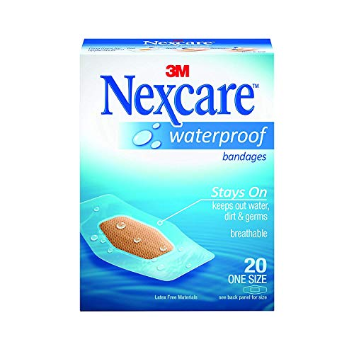 (Nexcare Waterproof Clear Bandages One Size - 20 ct, Pack of 6)