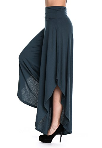 Pantaloni Scuro Largo Elastici Donna Yoga Sportivi Da Blu Seasum gqxRPw1x