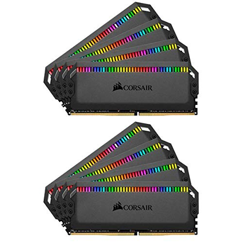 - Corsair Dominator Platinum RGB 64GB (8x8GB) DDR4 3000 (PC4-24000) C15 1.35V Desktop Memory - Black