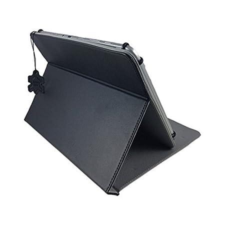 Funda de piel para Lidl Denver TAD-70112 70111 Tablet PC con Función Atril - Negro Piel 7 pulgadas: Amazon.es: Informática