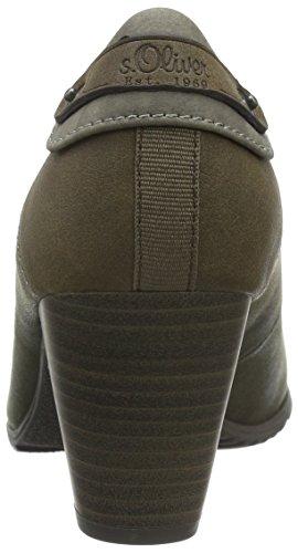 s.Oliver 22404, Zapatos de Tacón para Mujer Verde (KHAKI COMB 721)