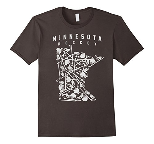 Mens Minnesota Hockey Shirt Sticks Gloves Helmets State T...