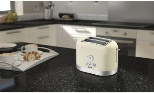 Swan 2-Slice Toaster - Cream