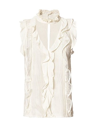 Alexis Alona Ivory Lace Ruffle Blouse L - Alexis Blouse