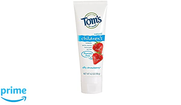 Toms Of Maine Childrens Natural Toothpaste Fluoride Free Silly Strawberry, 4.2 oz: Amazon.es: Electrónica