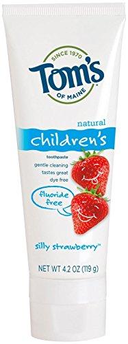 エージェント選出する矛盾するToms of Maine Toothpaste-Children's Fluoride Free-Strawberry - 4.2 Oz - Paste (並行輸入品)