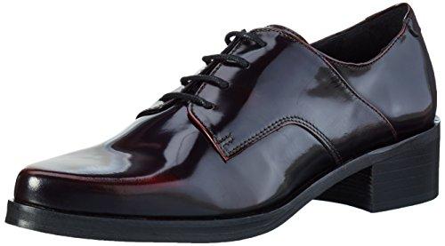 Buffalo London Es 30771 Polido, Zapatos De Cordones Derby para Mujer Burdeos