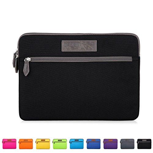 Caison 11.6 Zoll Schwarz Modisch Wildleder Laptop Sleeve Case Hülle Beutel Notebook Tasche Schoner Abdeckung Für Apple 11.6