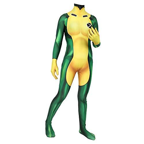 X-Men Rogue Siamese Tights Adult Child Halloween Cos Cosplay Superhero(XL Adult) -