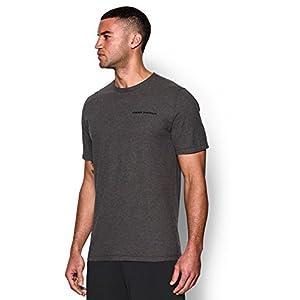 Under Armour Men's Charged Cotton T-Shirt, Carbon Heather (090)/Black, XX-Large