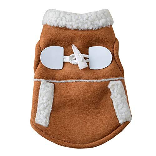 shine-hearty Pet Winter Jackets Suit Warm Vest Velet Small Dog Motorcycle Waistcoat,S