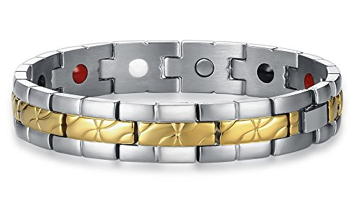 Two Tone Gold Jewelry Clasp Magnetic Energy Bracelet - 3