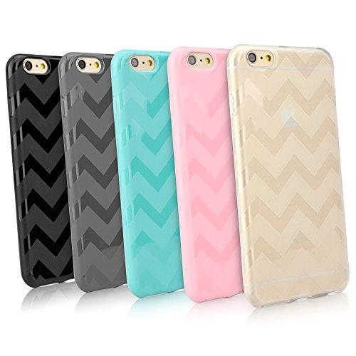 BoxWave Schutzhülle Apple iPhone 6 Plus ChevChic - schmaler, bunt, Apple iPhone 6 Plus Ultra Durable TPU Case Apple iPhone 6 Plus - Zickzack Muster mit aufgesetzten Taschen und Hüllen (mattiert)