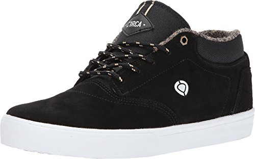 C1RCA Men's Lakota SE Water Resistant Traction Skate Shoe, Black/White, 10.5 Medium US