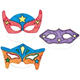 Color-Your-Own Superhero Masks (12 Pack)