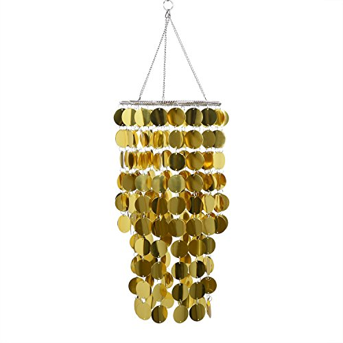 Black and gold chandelier amazon flavorthings gold bling hanging chandelier great idea for wedding chandeliers centerpieces decorations and any event party decor gold aloadofball Image collections