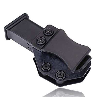 Yankai Iwb Magazine Kydex Holster Mag Carrier Pouch Holder for Glock 17 19 22 23 26 27 31 32 43 Inside The Waistband Concealed Carry 9mm Magazine Clip
