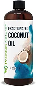 Fractionated Coconut Oil Massage Oil - Cold Pressed Pure MCT Oil for Essential Oils Mixing Dry Skin Moisturizer Natural Carrier Baby Oil for Face Hair & Body Therapeutic Aromatherapy Raw (16 oz)