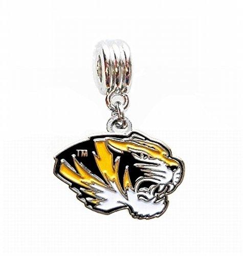 MU UNIVERSITY OF MISSOURI TIGERS MIZZOU TEAM CHARM PENDANT FOR NECKLACE EUROPEAN CHARM BRACELET (Fits Most Name Brands) DIY - Pendant Tigers Tigers Basketball