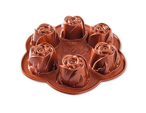 Nordic Ware Rosebud Baking Pan, Copper ()