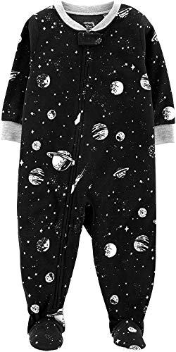 One Piece Fleece Pajamas 12M-5T, Outer Space, 12 Months ()