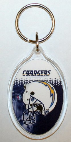 San Diego Chargers Oval Plastic Keychain (Key San Ring Diego Chargers)