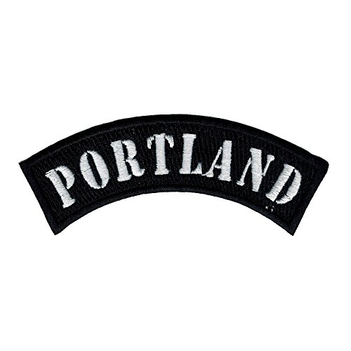 Portland City Rocker/biker 4 Inch Width Diy Embroidered Iron on / Sew on Patch #C27 (Gift Delivery Portland)