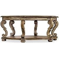 Hooker Furniture Solana 48 Hexagonal Cocktail Table in Light Oak