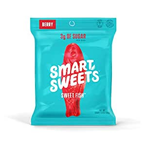 SmartSweets Sweet Fish 1.8 Oz Bags (Box Of 6), Candy With Low-Sugar (3g) & Low Calorie (80)- Free of Sugar Alcohols & No Artificial Sweeteners, Sweetened With Stevia