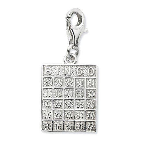Silver Sterling Bingo (ICE CARATS 925 Sterling Silver Bingo Card Lobster Clasp Pendant Charm Necklace Gambling Fine Jewelry Ideal Gifts For Women Gift Set From Heart)