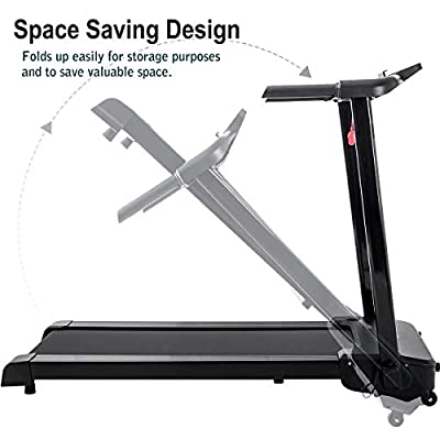 Merax Fitness Folding Treadmill - Electric Motorized Exercise Machine for Running & Walking [Easy Assembly]